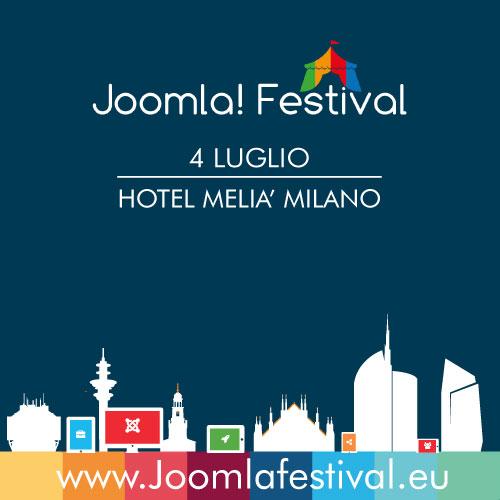Joomla Festival entra in scena a Milano il 4 luglio 2015