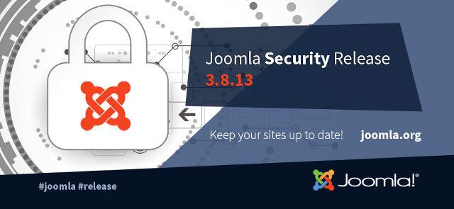 Joomla 3.8.13 Rilascio di sicurezza!