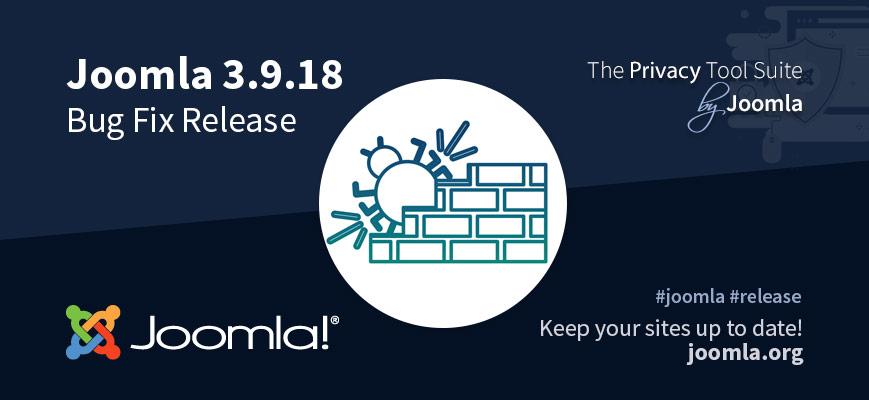 Rilasciata la versione di Joomla 3.9.18